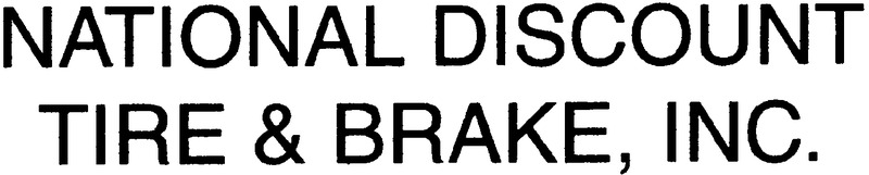 National Discount Tire & Brake